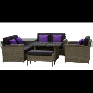Rattan Wicker Sofa Dining Leisure Outdoor Garden Furniture for 5 Seats pictures & photos
