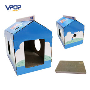 Easy Assemble Pet House Cat Scratcher Lounge Cardboard pictures & photos