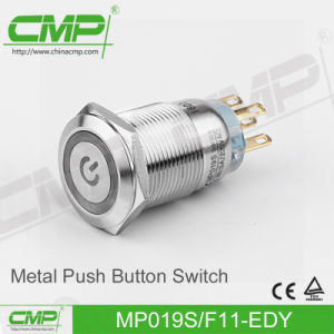 19mm Waterproof Push Button Switch (CE, TUV, RoHS) pictures & photos