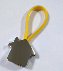 Promotion Gifts Customized Print Laser Engrave Logo House Keychain (F1430)
