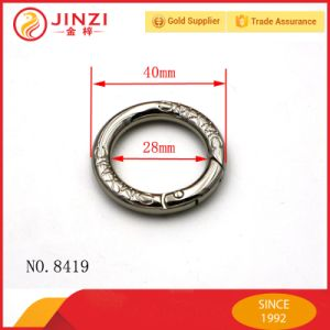 Customed Logo Clip Metal Spring O Ring for Keychain pictures & photos