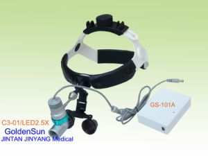 Medical Surgical Portable Rechargeable LED Headlight with Loupes pictures & photos