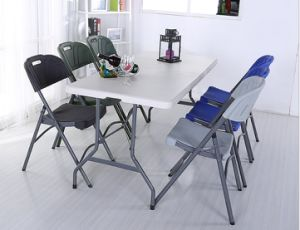 HDPE Round Folding Table and Chair Folding Chair Outdoor Furniture pictures & photos