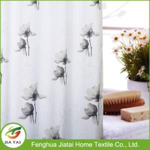 Custom Wide Modern Beautiful Grey Floral Shower Curtain