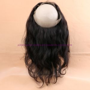 8A 360 Lace Frontal Peruvian Body Wave Lace Frontal Closure 360 Lace Frontal Closures with Baby Hair 360 Lace Frontal Wigs pictures & photos