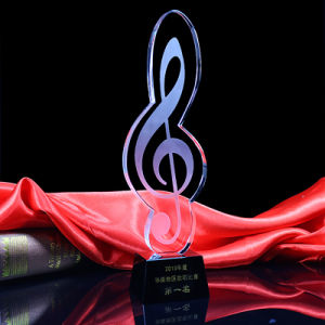 Crystal Bodybuilding Trophy Custom Crystal Music Trophy pictures & photos