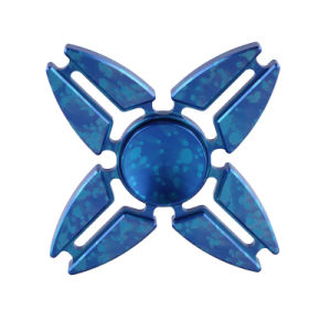 Fashion Four Angle Blue Hand Spinner Anti Stress Reliever Toy for Children Adults pictures & photos