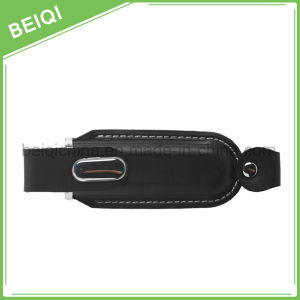 Top Quality Promotional Gift Cheap USB Flash Drive with Leather Case pictures & photos