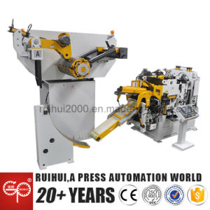 High Quality Double Head Decoiler Nc Servo Straightener Machine (MAC4-800HSL) pictures & photos