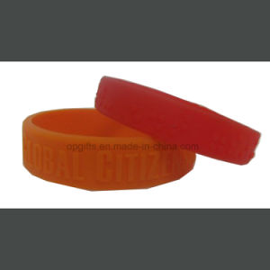 Embossed Waterproof Rubber Hand Band/ Silicon Bracelet pictures & photos