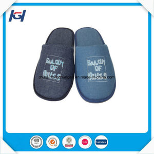 Cheap Wholesale Custom Embroidered Sleeping Slippers for Men pictures & photos