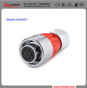 China Cnlinko Brand XLR Adapter Connector Apply to Electrical Bike and Solar Energy 7pin Metal Female Gender Plug pictures & photos