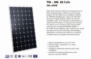 Tianma Monocrystalline PV Module pictures & photos