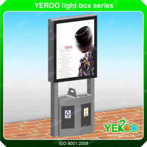 Aluminum Profile Mupi Signboard Light Box Advertising Light Box with Trash Can pictures & photos