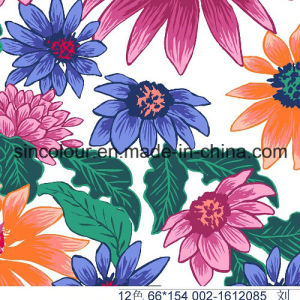 Flowers Printing 80%Polyamdde 20%Elastane Fabric for Swimwear pictures & photos