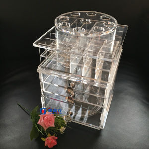 Custom Acrylic Lip Gloss 360 Degree Rotation Display Rack Stand Wholesale pictures & photos