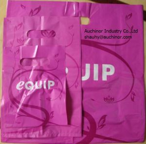 Door Knob Die Cut Bag Patch Handle Bag Poly Die Cut Bag Boutique Bag Poly Handle Bag Shopping Bag Garment Bag Carrier Bag pictures & photos