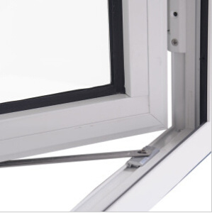 Customized White PVC Casement Window Open Outside with Double Sash pictures & photos
