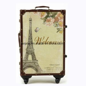 Superior PU Waterproof Upright Hard Shell Trolley Luggage for Travel pictures & photos