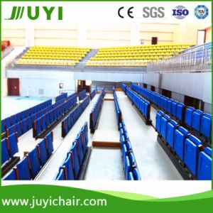 Jy-720 Stadium Retractable Metal Bleacher with Plastic Folding Seats pictures & photos