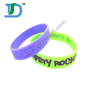 Promotional Gifts Rubber Silicone Bracelet / Custom Silicone Wrist Band pictures & photos