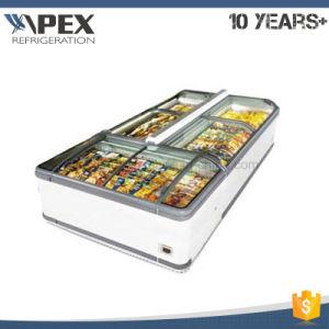 Glass Door Freezer, Supermarket Ice Cream Chest Island Display Freezer pictures & photos