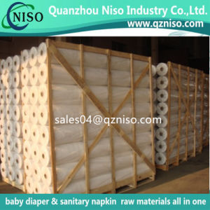 Wholesale 100% PP/Polypropylene Spunbond Nonwoven Fabric/Non Woven Raw Material for Baby Diaper pictures & photos