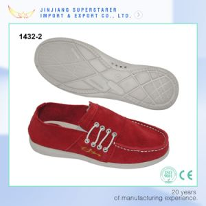 Red Color Canvas Slip on EVA Casual Shoes for Men pictures & photos