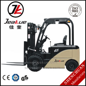 High Cost Performance AC Motor 2.5t Four Wheels Electric Forklift Truck pictures & photos