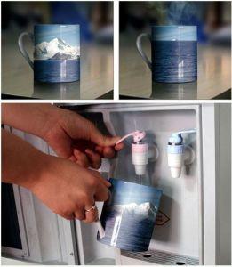 11oz Ceramic Advertising Magic Mug Hot Water Color Changing Mug pictures & photos