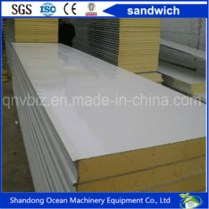 Eco-Friendly Sandwich Wall Panel Roof Panel Made of PPGI Steel Sheet and Rockwool Glasswool Heat Insulation Material pictures & photos