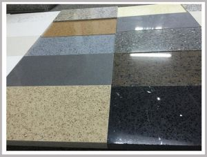 SGS Approved 20mm Thick 6.5 Mohs Kitchen Engineered Quartz Stone for House Decoration pictures & photos