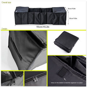 Foldable 4-Compartment Trunk Organizer with Cooling and Insulation pictures & photos