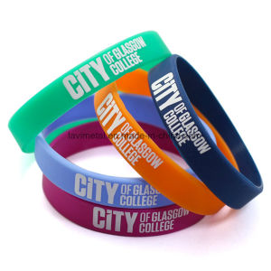 Custom Colourful Printing Silicone Wristband for Men pictures & photos