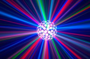 Classic Hot LED Effect DJ Double Rotating Balls Light for Disco Lighting pictures & photos