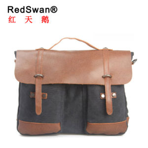 New Design Leather Canvas American Messenger Handbag (RS8575) pictures & photos