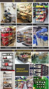 2017 Customized OEM 350kg Weight Loading 5 Tier Steel Wire Shelf Metal Warehouse Rack pictures & photos