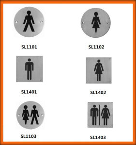 Hot Sales New Model Toilet Sign Plate for Europe Market pictures & photos