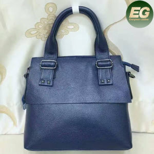 New Simple Design Genuine Leather Handbag Lady Tote Bags Emg4816 pictures & photos
