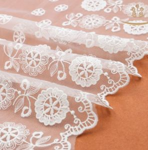 Wedding Dress Mesh Veil Lace Fabric Lace pictures & photos