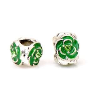 Silver Plated Painting Flower DIY Zinc Alloy Bead pictures & photos