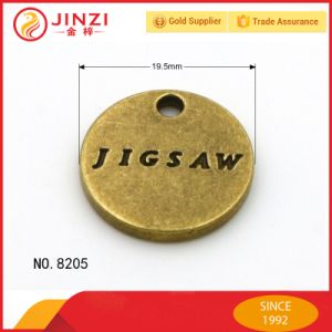 Hanging Brush Anti Brass Debossed Metal Logo Plate pictures & photos