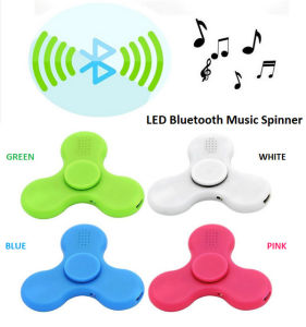 LED Light Hand Finger Spinner with Bluetooth Music Speaker pictures & photos