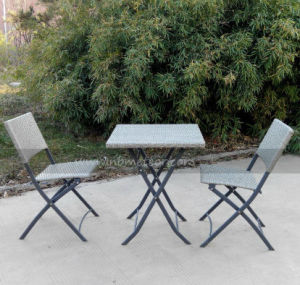 Mtc-141 Rattan Folding Table and Chair Garden Bistro Set Outdoor Furniture pictures & photos