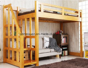 Double Lash Bed Children Bed Elevated Multifunctional Double Solid Wood Bed (M-X3803) pictures & photos