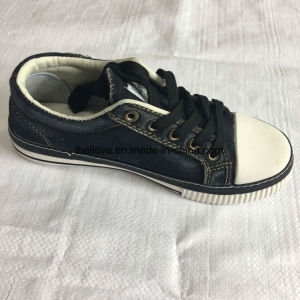 Washed Denim Shoe Upper with Rubber Outsole pictures & photos