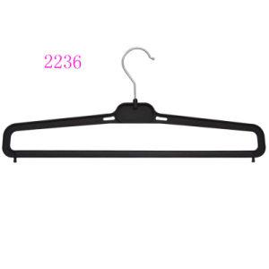 Custom Fashion Brand Plastic Pants Hangers and Supermarket Plasitc Hangers pictures & photos