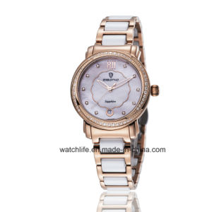 Fashion Diamond Quartz Stainless steel Ladies Wrist Watch pictures & photos