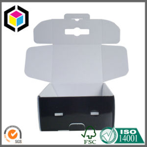 Foldable Both Sides Black Color Printed Corrugated Paper Shipping Box pictures & photos