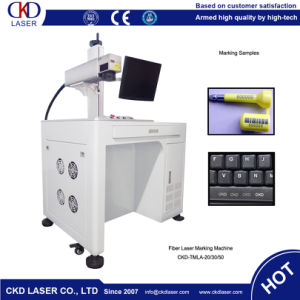 Indelible Marking Fiber Laser Marking Machine for Serial Number pictures & photos